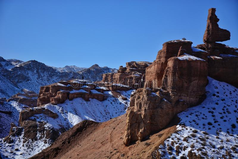 De Canion van Charyn in Kazachstan stock fotografie