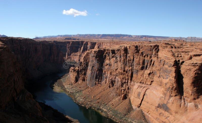 De Canion van de nauwe vallei & de Rivier van Colorado royalty-vrije stock afbeelding