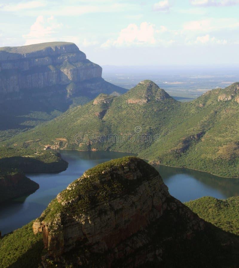 De Canion van de Rivier van Blyde in Afrika royalty-vrije stock foto's