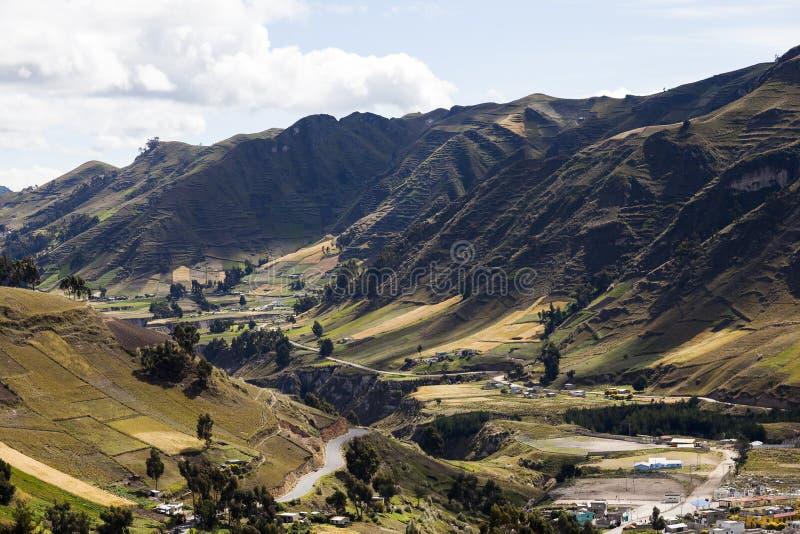 De canion van de Toachirivier rond Zumbahua stock afbeelding