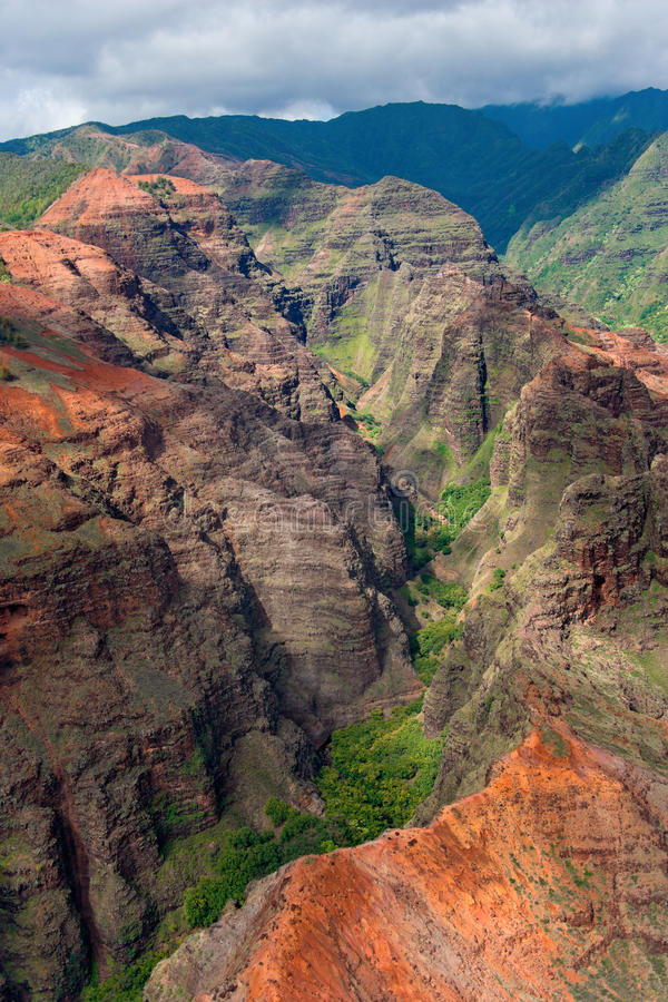 De canion van Kauai royalty-vrije stock afbeelding