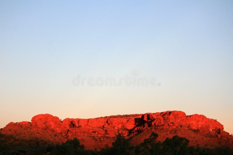 De Canion van koningen, Watarrka Nationaal Park, Australië stock foto's