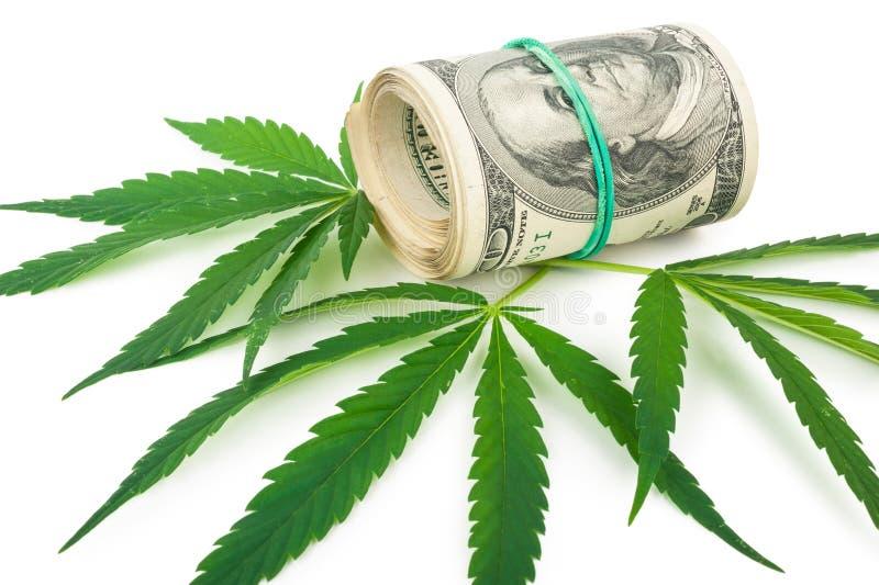 De cannabis en het geld royalty-vrije stock foto