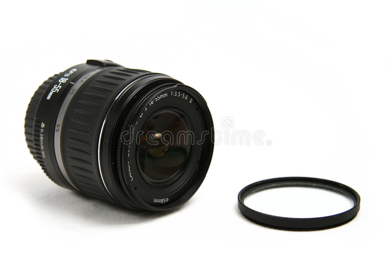 De canon van de lens stock foto