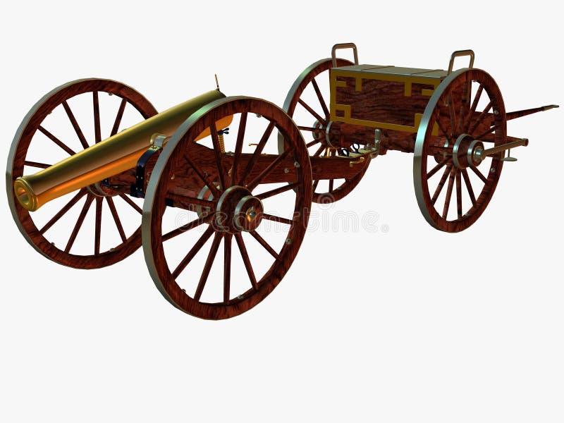 De Canon van Napoleon stock illustratie