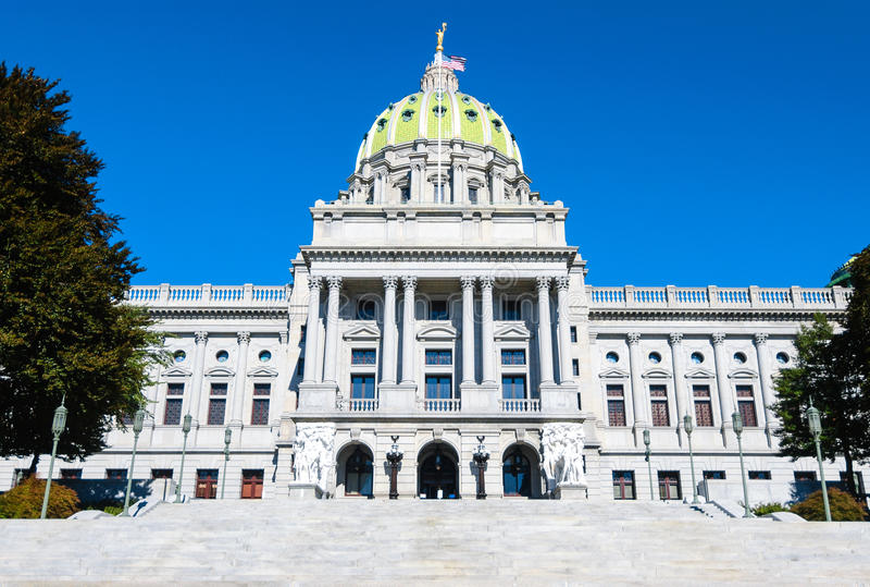 De capitolbouw van de Staat van Pennsylvania royalty-vrije stock foto