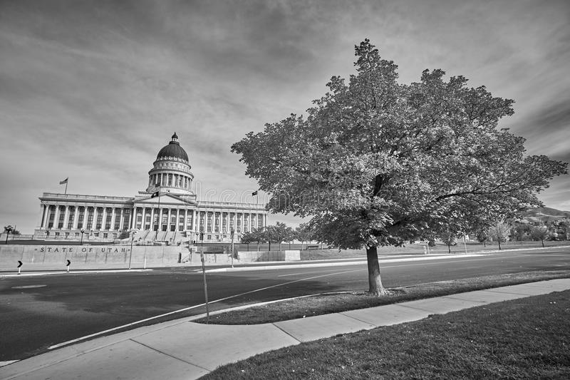 De capitolbouw van de staat van Utah in Salt Lake City, de V.S. stock fotografie