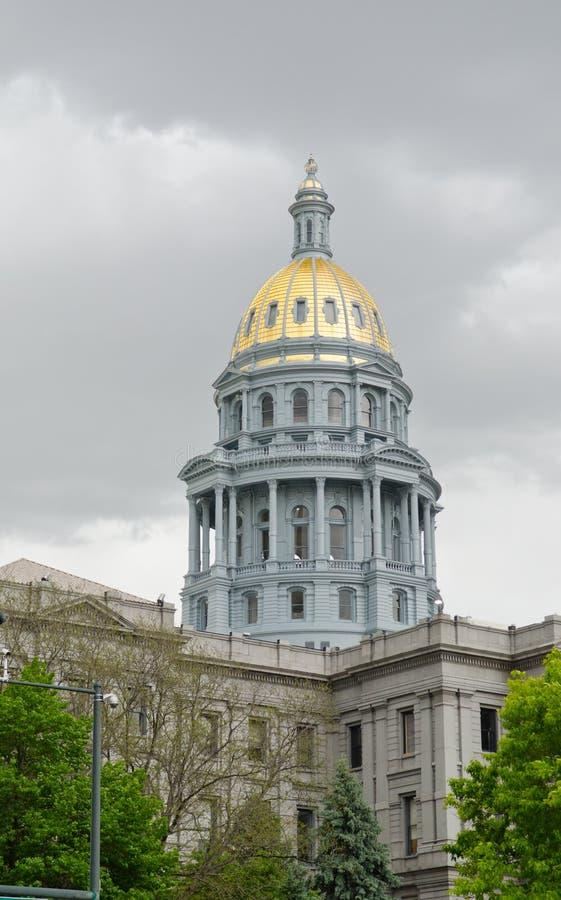 De Capitoolbouw in Denver Colorado van de binnenstad royalty-vrije stock foto's