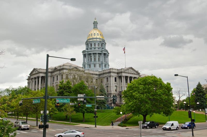 De Capitoolbouw in Denver Colorado van de binnenstad royalty-vrije stock foto