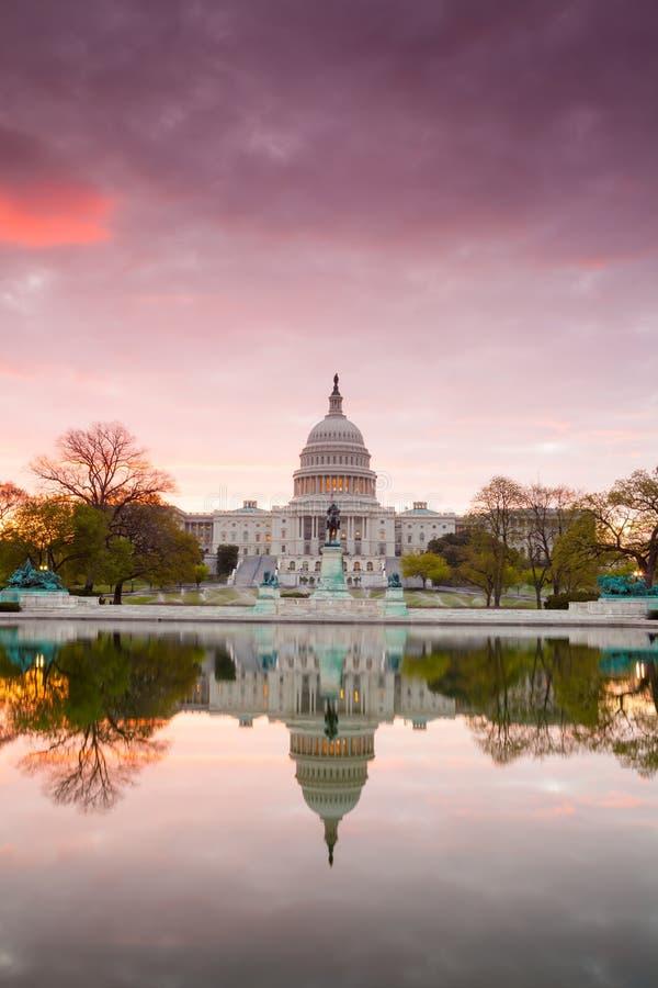 De Capitoolbouw in Washington DC stock foto's