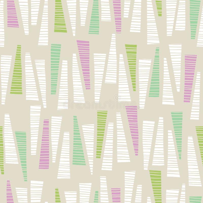 De capricieuze Pastelkleur kleurde Hand-Drawn Geweven Driehoeken Vector Naadloos Patroon Als achtergrond Abstracte geometrische d vector illustratie