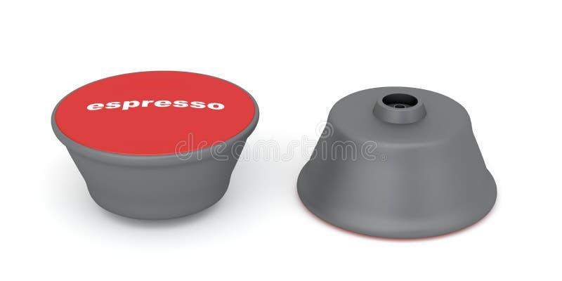 De capsules van de espresso stock illustratie