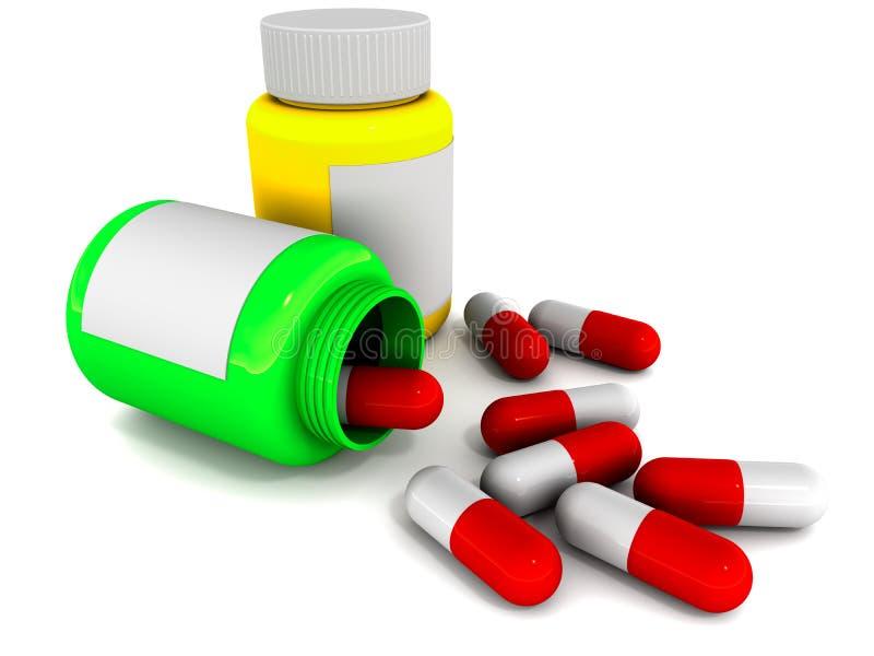 De capsules van de geneeskunde vector illustratie