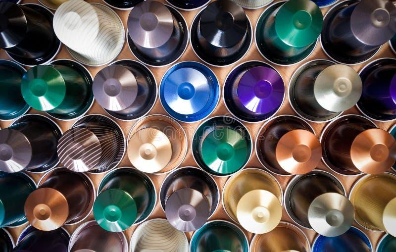 De capsules van de koffie stock afbeelding