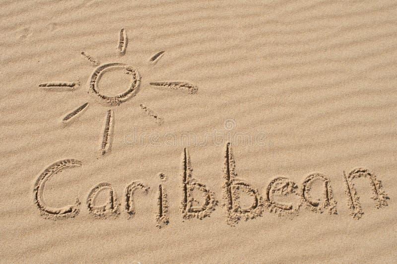 De Caraïben in het Zand royalty-vrije stock fotografie