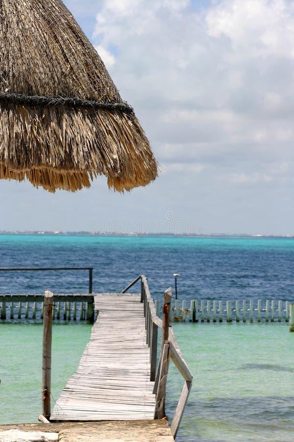 De Caraïben scheppen Dok op royalty-vrije stock foto's