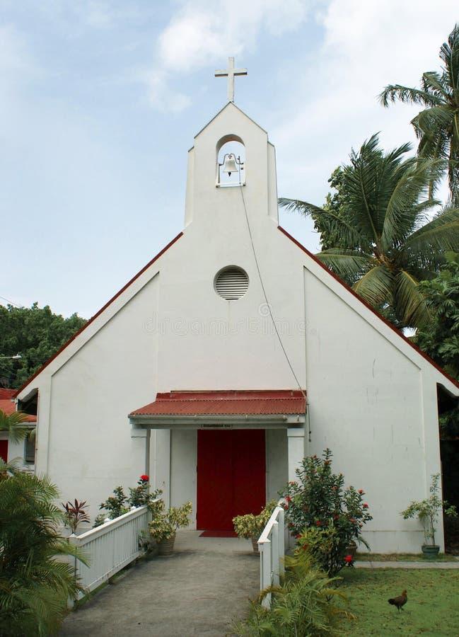 De Caraïbische kerkbouw royalty-vrije stock afbeelding