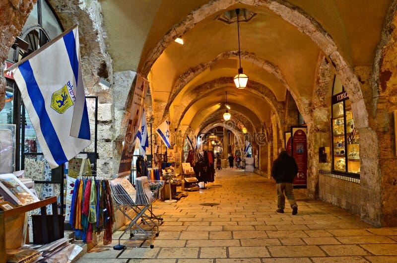 De Cardo-Straat, Jeruzalem stock afbeeldingen