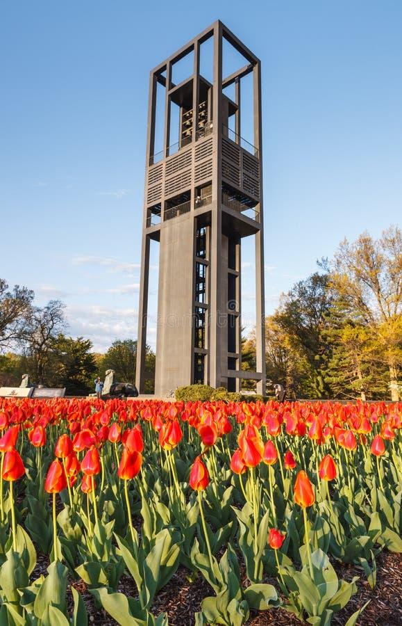 De Carillon van Nederland in Arlington Virginia stock foto