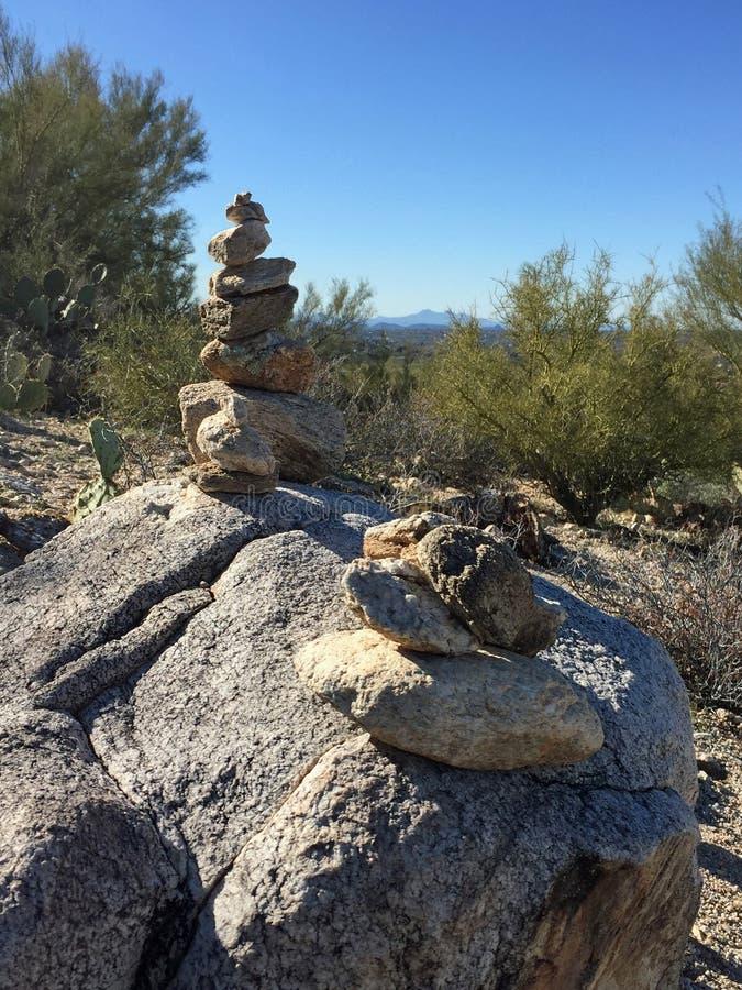De Carinrotsen merken een sleep in de bergen van Arizona royalty-vrije stock foto's