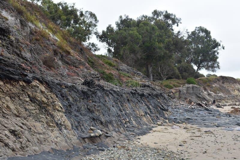 De Carpinteria Kalifornien tjäragroparna, 7 arkivfoto