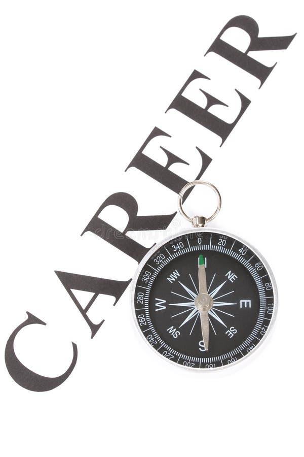 De carrière en het Kompas van de krantekop royalty-vrije stock foto's