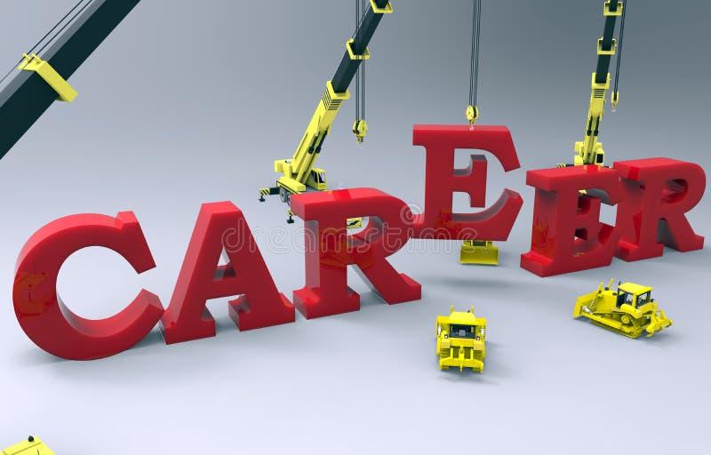 De carrièrebouw stock illustratie