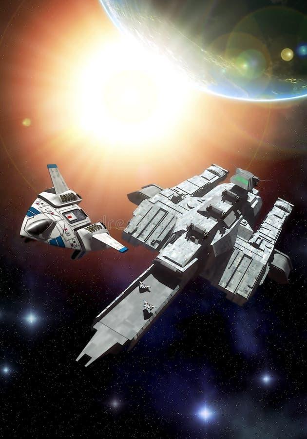 De carrier van het ruimteschip royalty-vrije illustratie