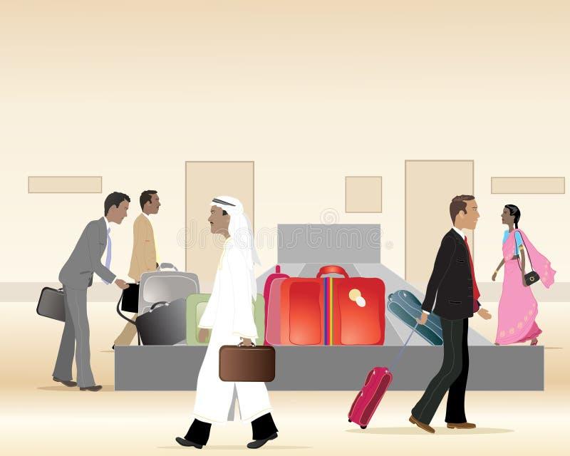 De carrousel van de bagage vector illustratie