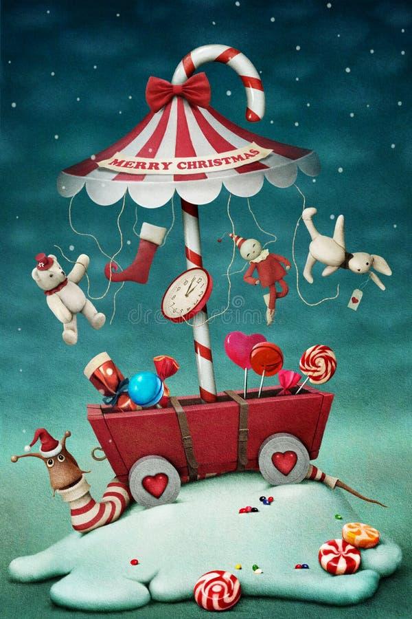 De carrousel van het suikergoed stock illustratie