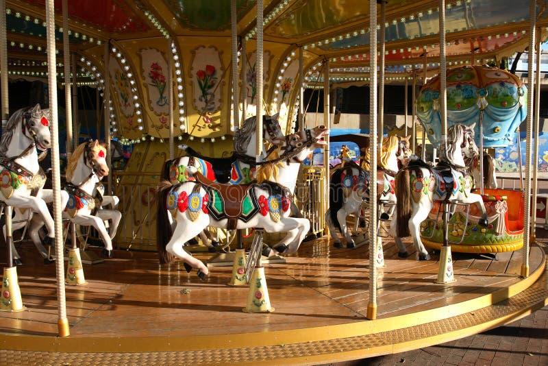 De Carrousel van kinderen royalty-vrije stock afbeelding