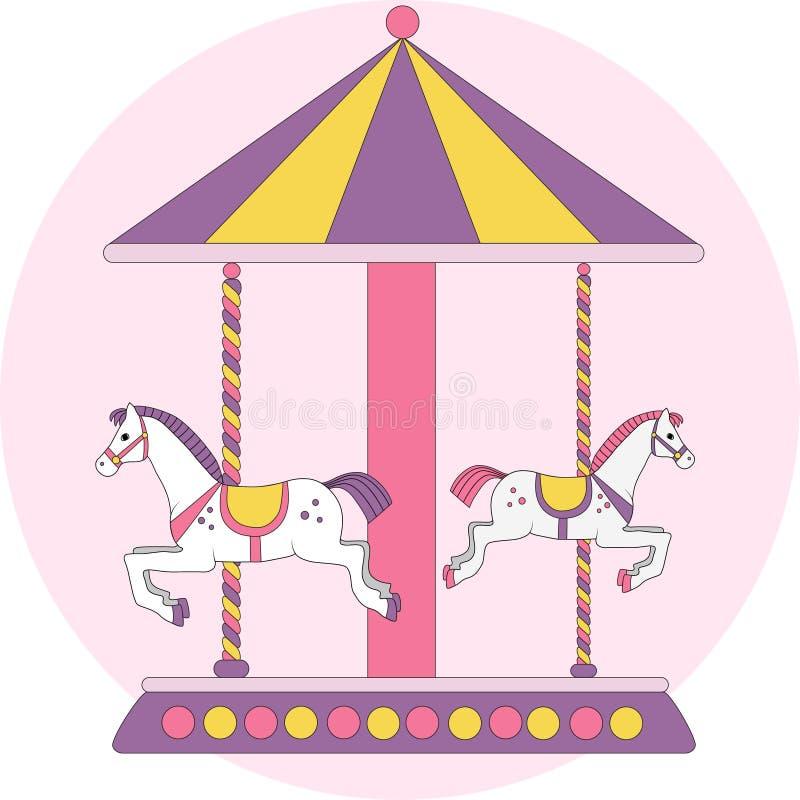 De carrousel van kinderen vector illustratie