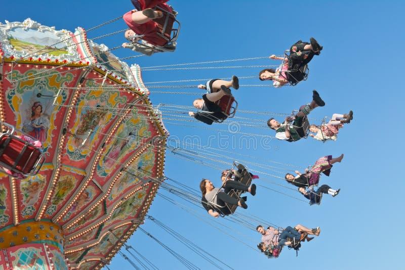De carrousel van Oktoberfest stock afbeeldingen