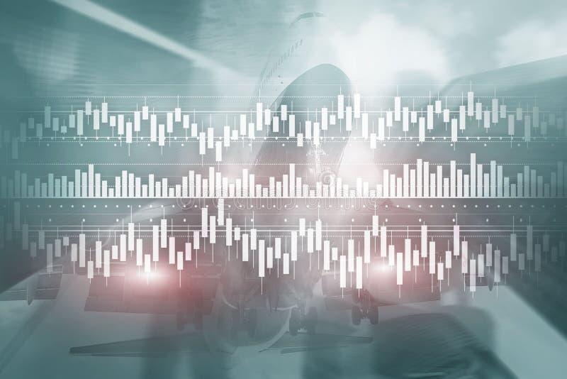 De carta do diagrama do gráfico da compra e venda de ações do investimento do negócio da finança do conceito dos meios mistos vel ilustração royalty free