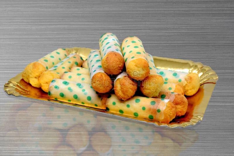 De cartucce Italiaanse cake royalty-vrije stock afbeelding
