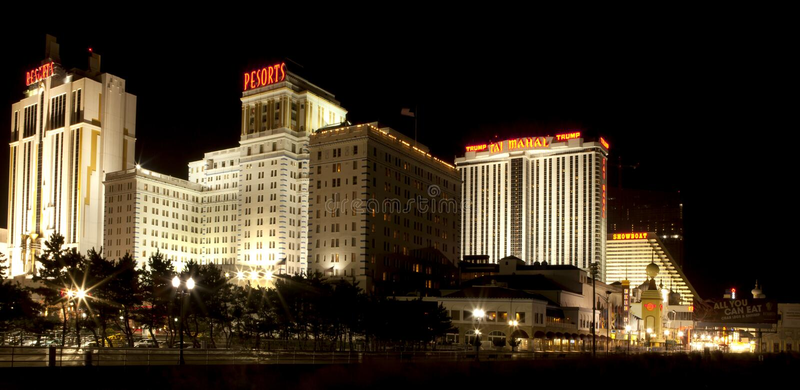 De Casino's van Atlantic City stock foto's