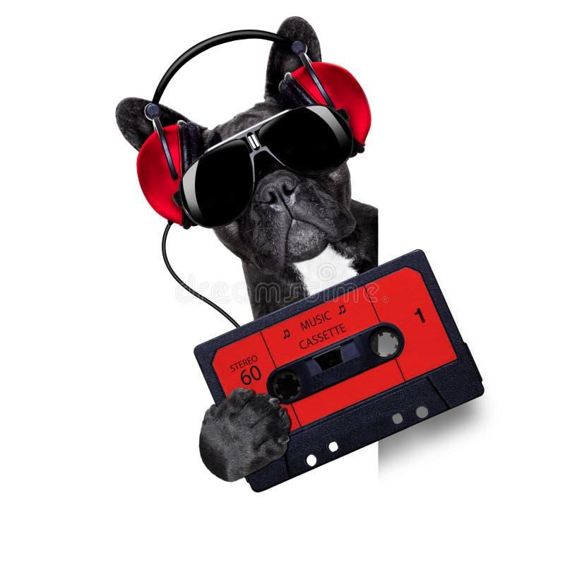 De cassette van de hondmuziek royalty-vrije stock afbeelding