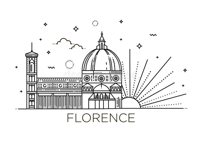 De Cattedrale dina Santa Maria del Fiore - symbolet av Italien, Florence stock illustrationer