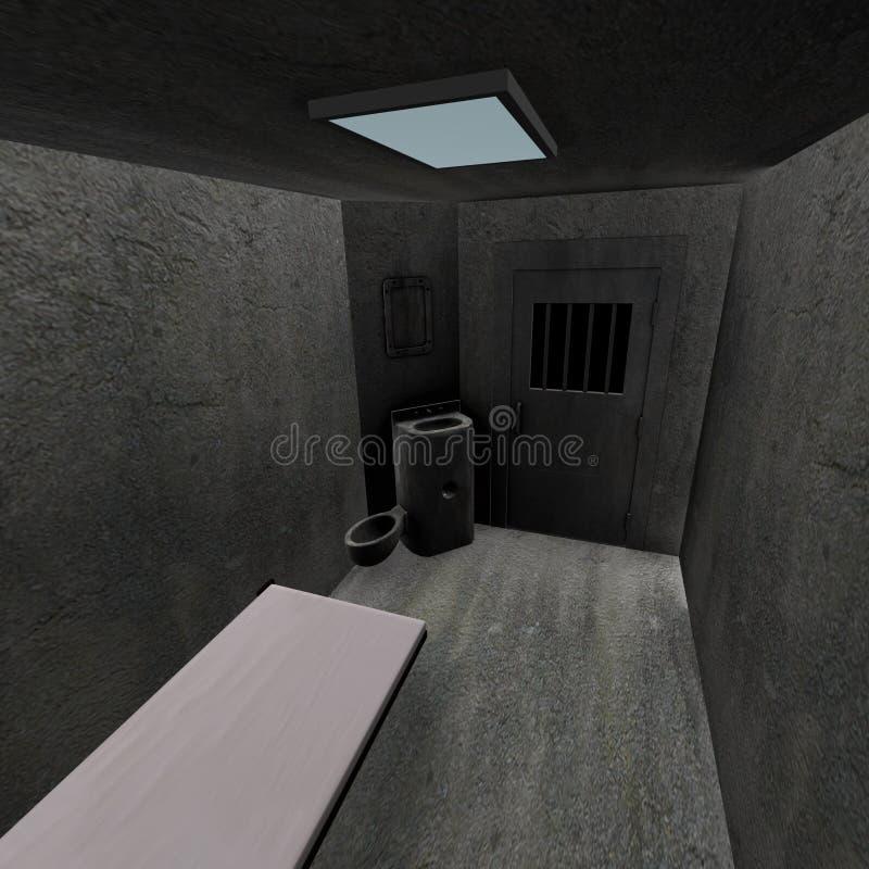 De cel van de gevangenis vector illustratie