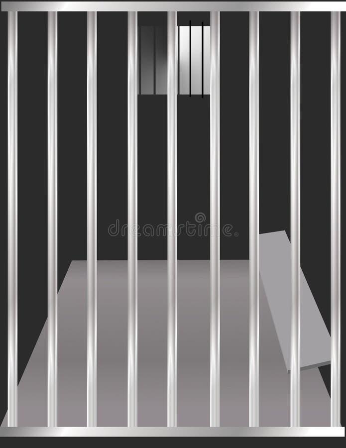 De Cel van de gevangenis royalty-vrije illustratie