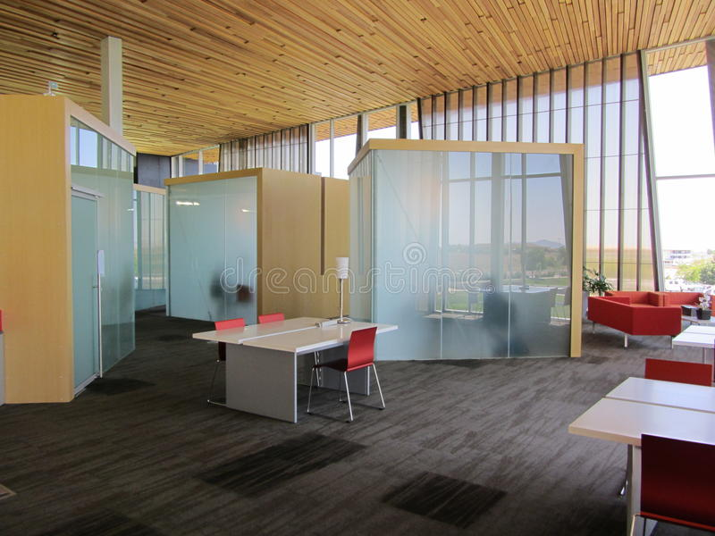 De Cellen van het bureau in Glas royalty-vrije stock afbeeldingen