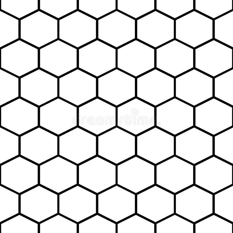 De cellen vector naadloos patroon van de honingskam stock illustratie