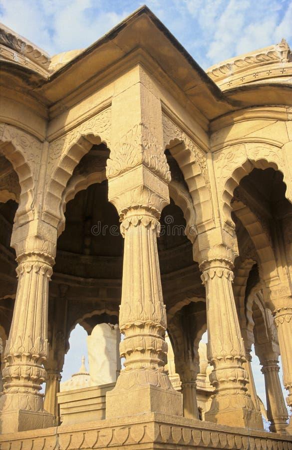 De cenotaaf van Jaisalmer stock fotografie