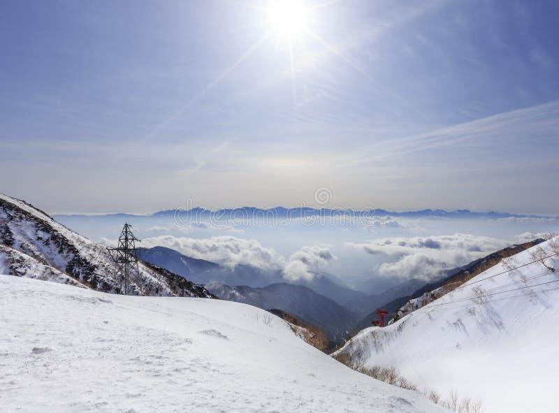 De Centrale Alpen van Japan stock afbeelding