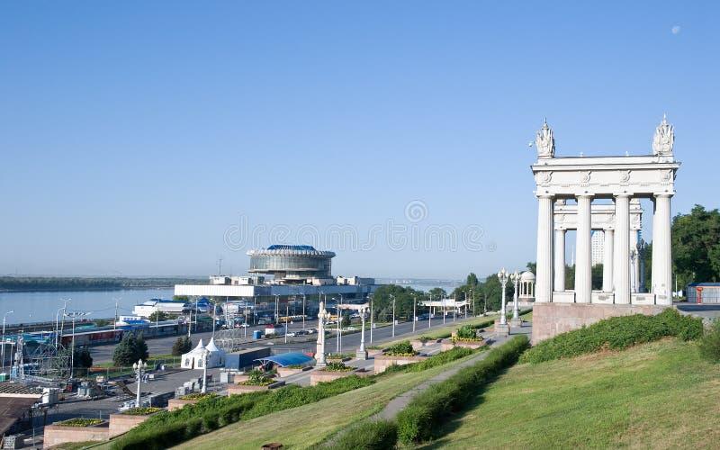 De centrale kade van Volgograd royalty-vrije stock fotografie