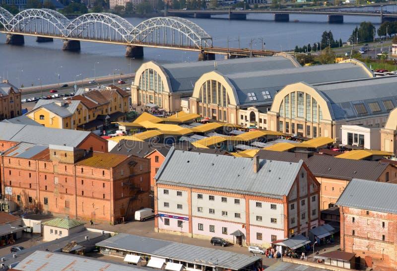 De Centrale Markt van Riga royalty-vrije stock foto's