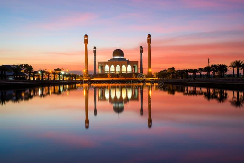 De Centrale Moskee van Songkla in Thailand stock fotografie