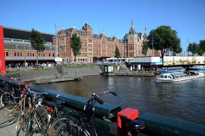 De Centrale post van Amsterdam stock fotografie