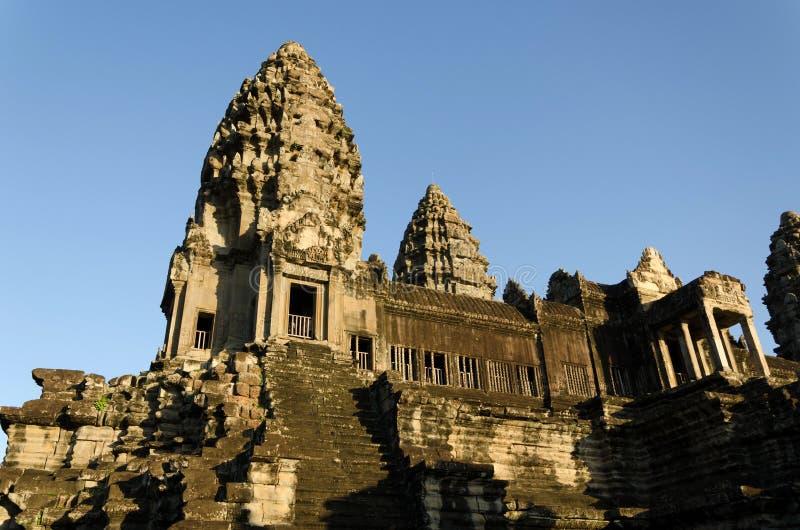 De centrale Toren van Angkor Wat in Siem oogst stock afbeeldingen