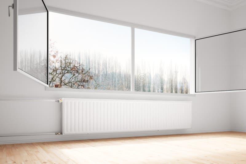 De centrale verwarming attachted aan muur vector illustratie